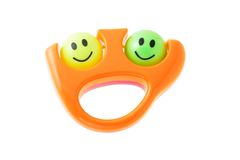 Smiley infant rattle Royalty Free Stock Images