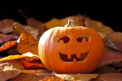 Smiley Jack-O-Lantern Stock Images
