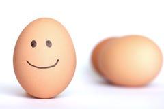 Smiley jajko Zdjęcie Stock