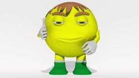 Smiley jaune étonné banque de vidéos