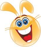 Smiley. Kaninchen. Ostern. Lizenzfreies Stockfoto