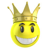 Smiley king Royalty Free Stock Photography