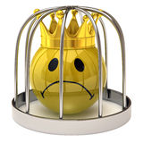 Smiley king in a cage Royalty Free Stock Image