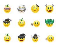 Smiley kolekcja na wakacyjnym Halloween Zdjęcie Stock