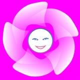 Smiley księżyc Obraz Royalty Free