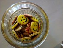 Smiley kształta ciastka Zdjęcie Royalty Free
