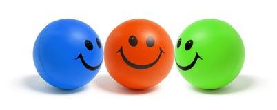Smiley-Kugeln Lizenzfreie Stockbilder