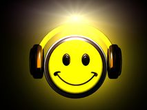 Smiley listening music Stock Photography