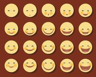 Smiley, lustig, Lächeln, Lachen, Lachen, traurig, Farbe, flach Lizenzfreie Stockfotografie