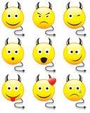 Smiley maledetti Immagine Stock Libera da Diritti