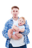 Smiley man and pretty baby Stock Photo