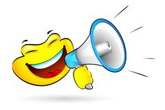 Smiley with Megaphone Stock Photos