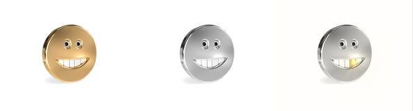 Smiley metálicos Foto de archivo libre de regalías