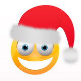 Smiley met santahoed stock illustratie