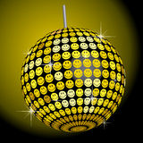 Smiley Mirror Ball. This graphic is a Smiley mirror ball Stock Photo