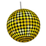 Smiley Mirror Ball -White Base. This graphic is Smiley Mirror Ball Royalty Free Stock Photo