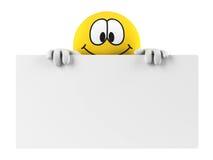 Smiley mit einem leeren Vorstand Stockbilder
