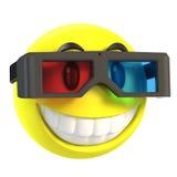 Smiley mit Gläsern 3d Lizenzfreie Stockfotos