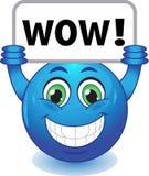 Smiley mit wow Zeichen Lizenzfreies Stockfoto