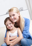 Smiley mom with her daughter Stock Photo