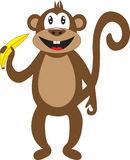 Smiley monkey as a symbol of 2016 Royalty Free Stock Images