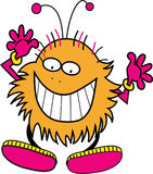 Smiley monster. Pink and orange funny monster Royalty Free Stock Photo
