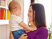 Mother looking at adorable son Royalty Free Stock Photo