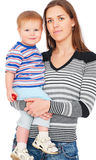 Smiley mother with son Stock Photography