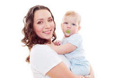 Smiley mother with son Royalty Free Stock Image