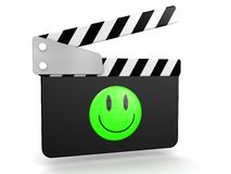 Smiley Movie Clapper Stock Images