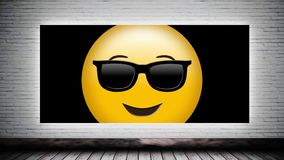 Smiley na lona vídeos de arquivo