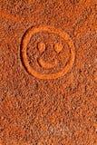 Smiley nella sabbia Fotografia Stock Libera da Diritti