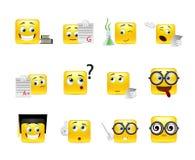 Smiley nerd Stock Image