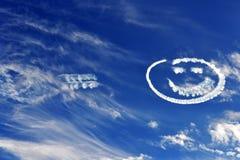 Smiley nieba Zdjęcie Stock