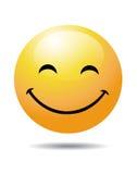 Smiley no branco Foto de Stock