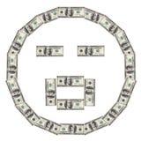 Smiley O del dólar Foto de archivo libre de regalías