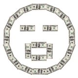 Smiley O du dollar Photo libre de droits