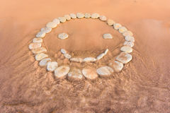 Smiley op zand Stock Afbeelding