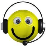 smiley operatora Zdjęcia Royalty Free