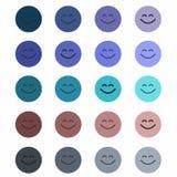 Smiley originaux, mignons, colorés, ordinaires illustration de vecteur