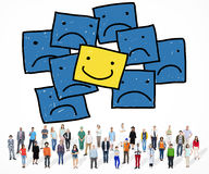 Smiley Outstanding Positive Happiness Contrast begrepp vektor illustrationer