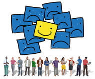 Smiley Outstanding Positive Happiness Contrast Concept Royalty Free Stock Photo