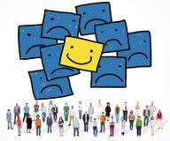 Smiley Outstanding Positive Happiness Contrast-Konzept Stockbilder