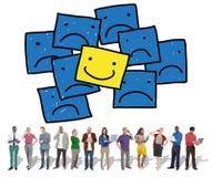 Smiley Outstanding Positive Happiness Contrast-Konzept Lizenzfreies Stockfoto