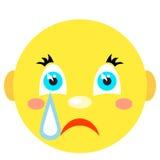 Smiley płacze Ikony na białym tle Zdjęcia Royalty Free