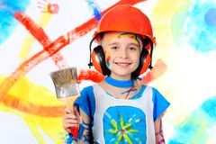 Smiley painter Stock Photo