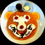 Smiley Pancake Foto de archivo libre de regalías