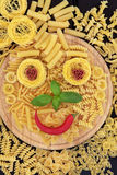 Smiley Pasta Stock Images