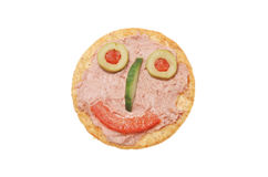 Smiley pate and biscuit face Royalty Free Stock Image