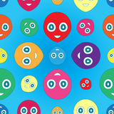 Smiley pattern Stock Image